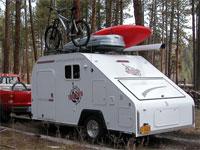 Part camping trailer, part toy hauler, the Freelance is versatile