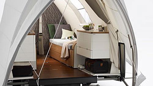 Opera Tent Trailer Interior