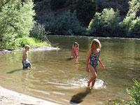 Kids Camping River