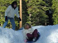 Snow Sledding in the Sierras