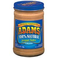 Adams natural peanut butter